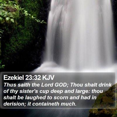 Ezekiel 23:32 KJV Bible Verse Image