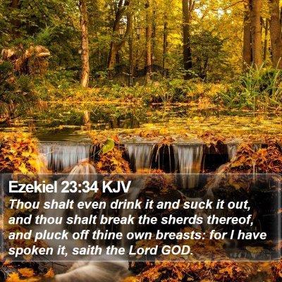 Ezekiel 23:34 KJV Bible Verse Image
