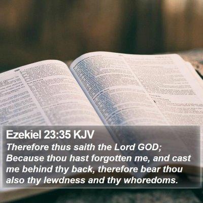 Ezekiel 23:35 KJV Bible Verse Image