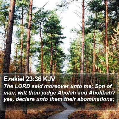Ezekiel 23:36 KJV Bible Verse Image