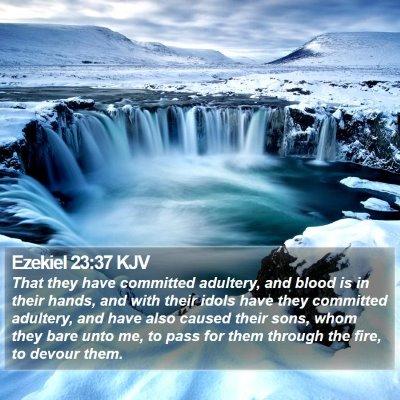 Ezekiel 23:37 KJV Bible Verse Image