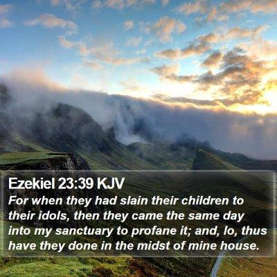 Ezekiel 23:39 KJV Bible Verse Image