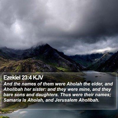 Ezekiel 23:4 KJV Bible Verse Image