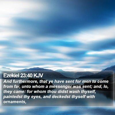 Ezekiel 23:40 KJV Bible Verse Image