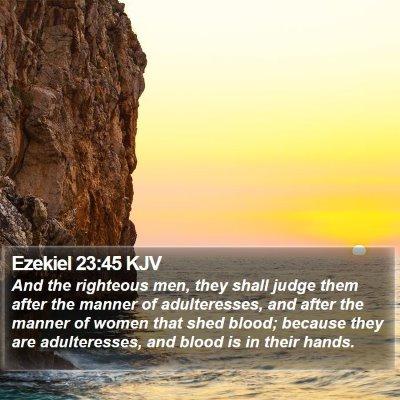 Ezekiel 23:45 KJV Bible Verse Image