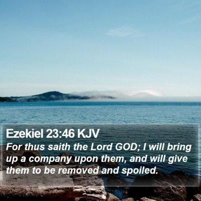 Ezekiel 23:46 KJV Bible Verse Image