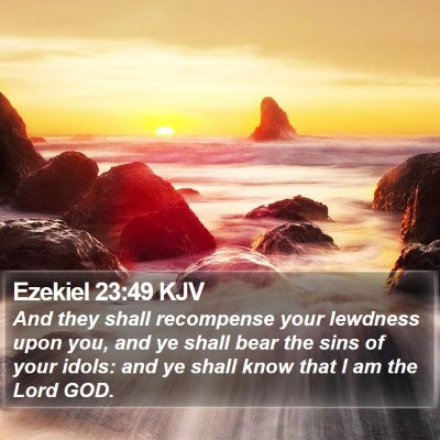 Ezekiel 23:49 KJV Bible Verse Image