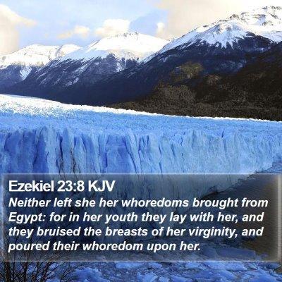 Ezekiel 23:8 KJV Bible Verse Image