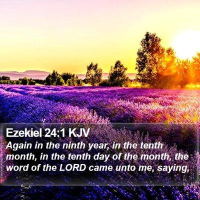 Ezekiel 24:1 KJV Bible Verse Image