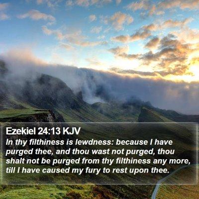 Ezekiel 24:13 KJV Bible Verse Image