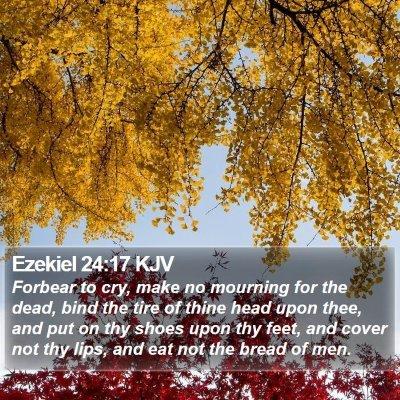 Ezekiel 24:17 KJV Bible Verse Image