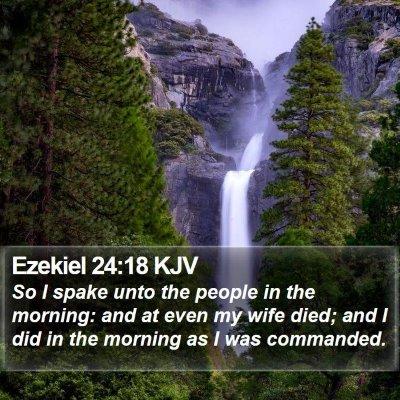 Ezekiel 24:18 KJV Bible Verse Image