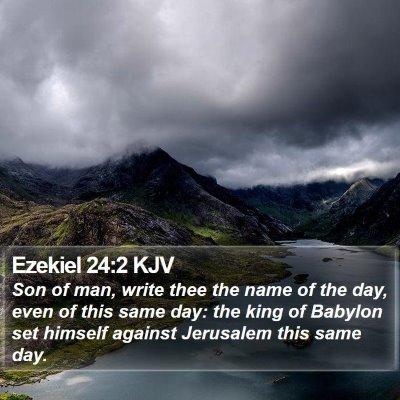 Ezekiel 24:2 KJV Bible Verse Image