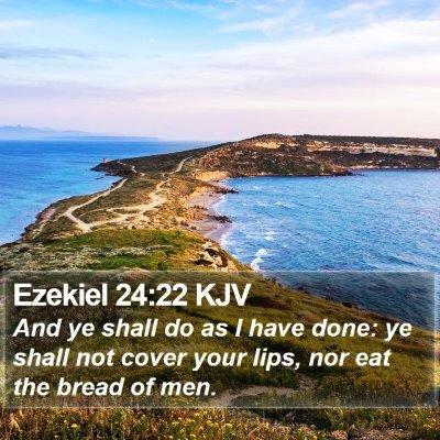 Ezekiel 24:22 KJV Bible Verse Image