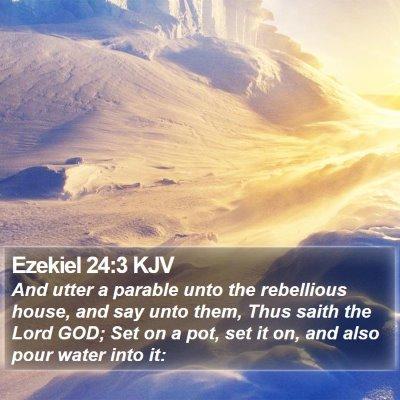 Ezekiel 24:3 KJV Bible Verse Image