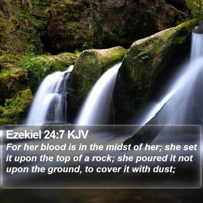Ezekiel 24:7 KJV Bible Verse Image
