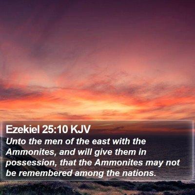 Ezekiel 25:10 KJV Bible Verse Image