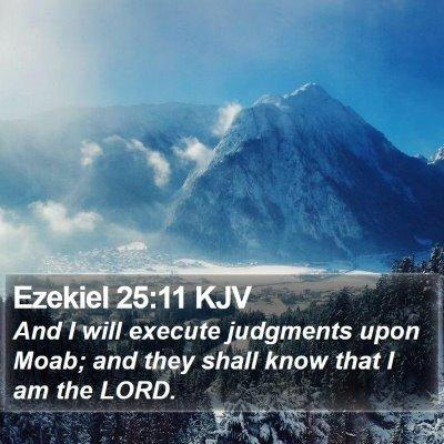 Ezekiel 25:11 KJV Bible Verse Image