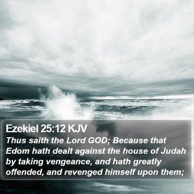 Ezekiel 25:12 KJV Bible Verse Image