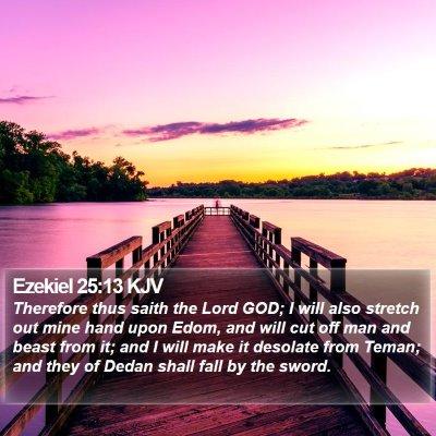Ezekiel 25:13 KJV Bible Verse Image