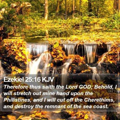 Ezekiel 25:16 KJV Bible Verse Image