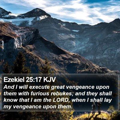 Ezekiel 25:17 KJV Bible Verse Image