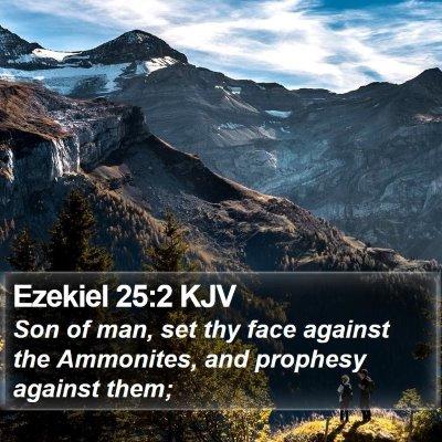 Ezekiel 25:2 KJV Bible Verse Image