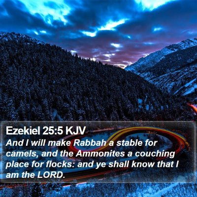 Ezekiel 25:5 KJV Bible Verse Image