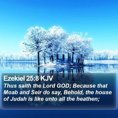 Ezekiel 25:8 KJV Bible Verse Image