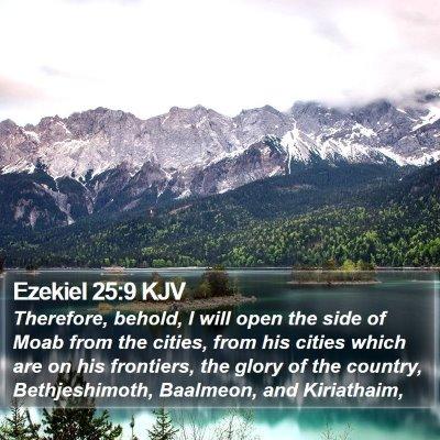Ezekiel 25:9 KJV Bible Verse Image