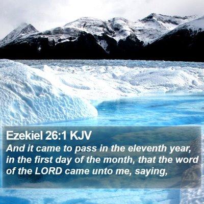 Ezekiel 26:1 KJV Bible Verse Image
