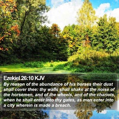 Ezekiel 26:10 KJV Bible Verse Image