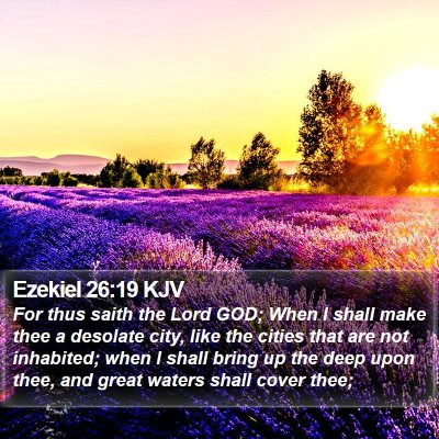 Ezekiel 26:19 KJV Bible Verse Image