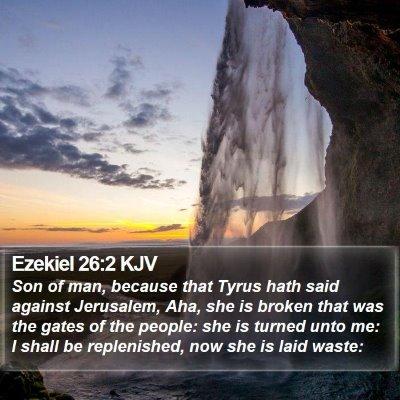 Ezekiel 26:2 KJV Bible Verse Image