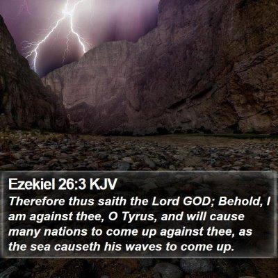 Ezekiel 26:3 KJV Bible Verse Image