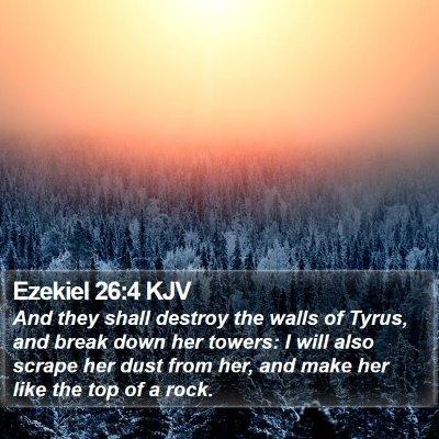 Ezekiel 26:4 KJV Bible Verse Image