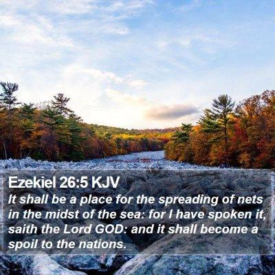Ezekiel 26:5 KJV Bible Verse Image