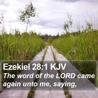 Ezekiel 28:1 KJV Bible Verse Image