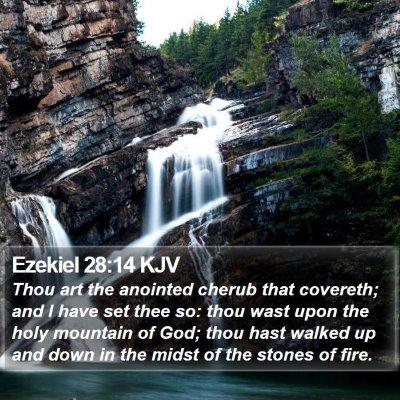 Ezekiel 28:14 KJV Bible Verse Image