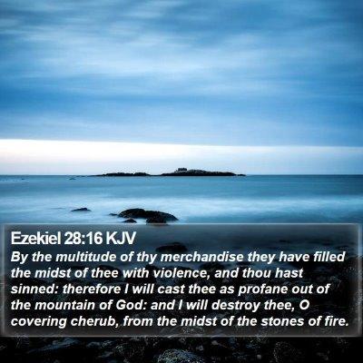 Ezekiel 28:16 KJV Bible Verse Image