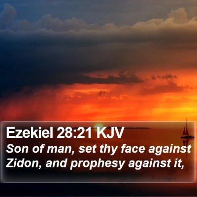 Ezekiel 28:21 KJV Bible Verse Image