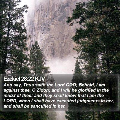 Ezekiel 28:22 KJV Bible Verse Image