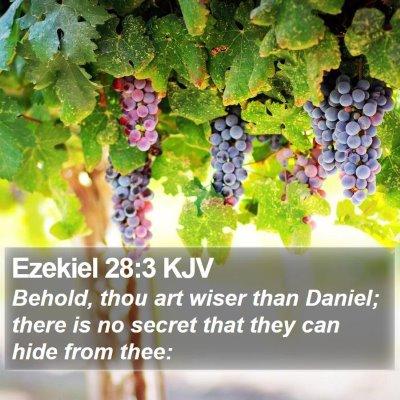 Ezekiel 28:3 KJV Bible Verse Image