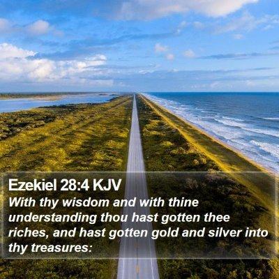 Ezekiel 28:4 KJV Bible Verse Image