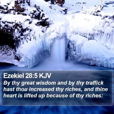 Ezekiel 28:5 KJV Bible Verse Image