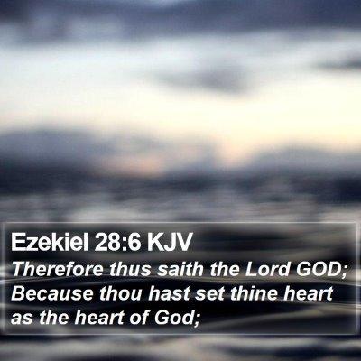 Ezekiel 28:6 KJV Bible Verse Image