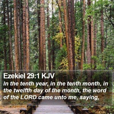 Ezekiel 29:1 KJV Bible Verse Image