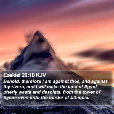 Ezekiel 29:10 KJV Bible Verse Image