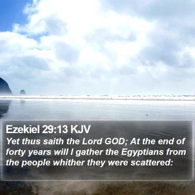 Ezekiel 29:13 KJV Bible Verse Image