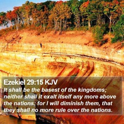 Ezekiel 29:15 KJV Bible Verse Image